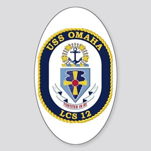 USS Omaha LCS-12 Sticker (Oval)