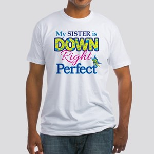 Sister_Down_Rt_Perfect Fitted T-Shirt