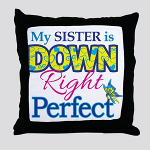 Sister_Down_Rt_Perfect Throw Pillow