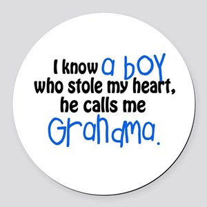 I know a boy Round Car Magnet