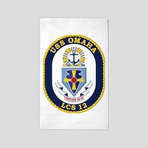 USS Omaha LCS-12 Area Rug