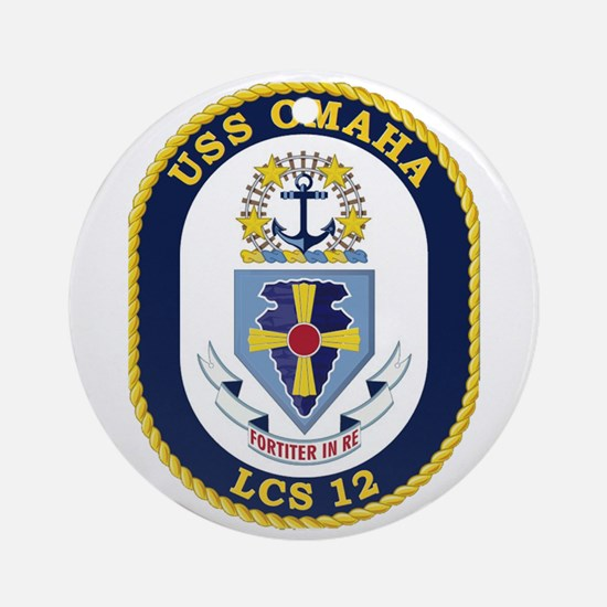 USS Omaha LCS-12 Round Ornament