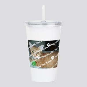 CUSTOM Your Pet Photo Acrylic Double-wall Tumbler