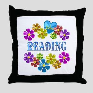 I Love Reading Throw Pillow