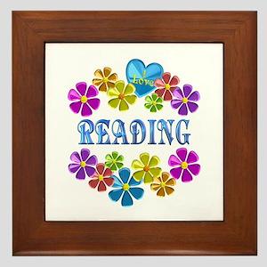 I Love Reading Framed Tile