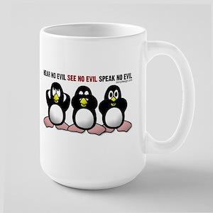 Hear No Evil Penguins Mugs