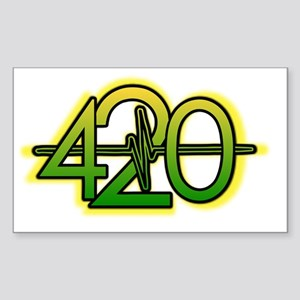 420 YBG Sticker (Rectangle)