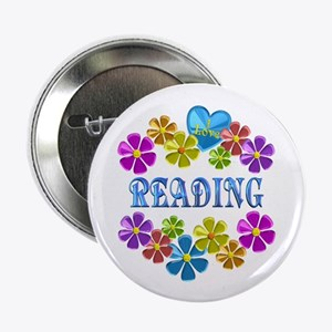 "I Love Reading 2.25"" Button"