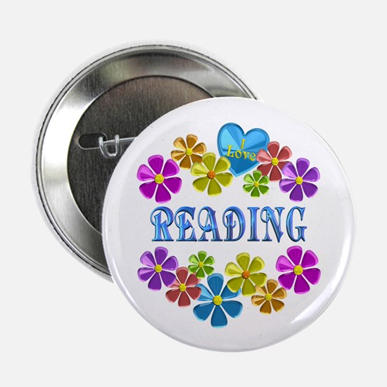 "I Love Reading 2.25"" Button"