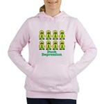 depression ducks.png Women's Hooded Sweatshirt