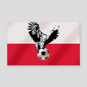 Polish Football Flag Rectangle Car Magnet