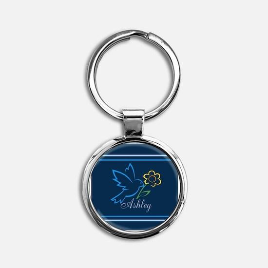 Cute Ashley Round Keychain