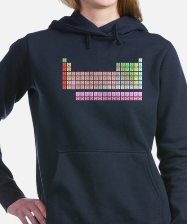 Unique Periodic table of the elements Women's Hooded Sweatshirt
