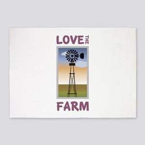 Love The Farm 5'x7'Area Rug