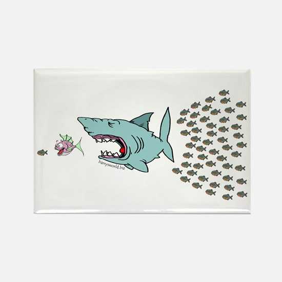 Bigger Fish Rectangle Magnet (10 pack)