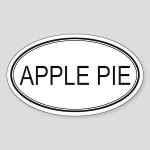 APPLE PIE (oval) Oval Sticker
