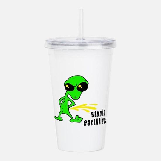 alien peeing copy.jpg Acrylic Double-wall Tumbler