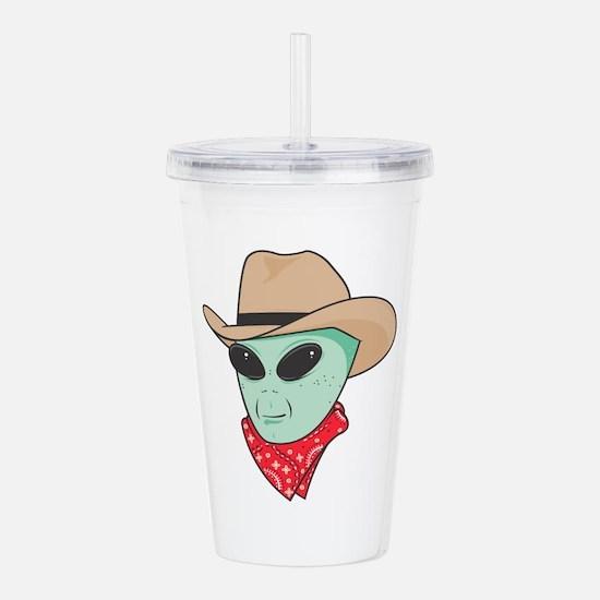 cowboy alien copy.jpg Acrylic Double-wall Tumbler