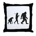 Evolution of Bigfoot Throw Pillow