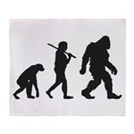 Evolution of Bigfoot Throw Blanket