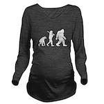 Evolution of Bigfoot Long Sleeve Maternity T-Shirt