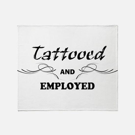 Cute Tattoos Throw Blanket