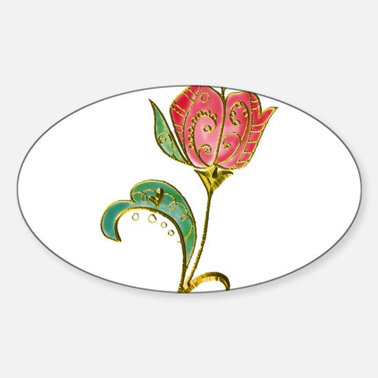 Scrollwork Tulip with Metallic Gold Embellishments
