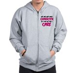 Get Into Character/Like I Care B/M Zip Hoodie