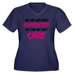 Get Into Character/Like I Care B/M Plus Size T-Shi