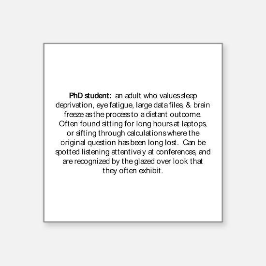 PhDstudent.emf Sticker