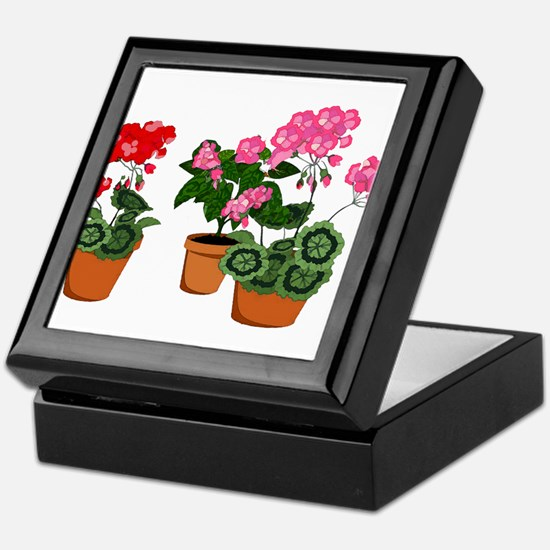 Cute Geranium Keepsake Box