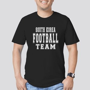 South Korea Football T Men's Fitted T-Shirt (dark)
