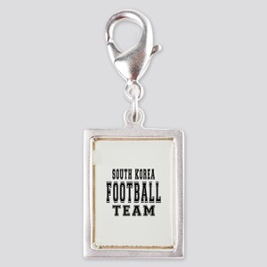 South Korea Football Team Silver Portrait Charm