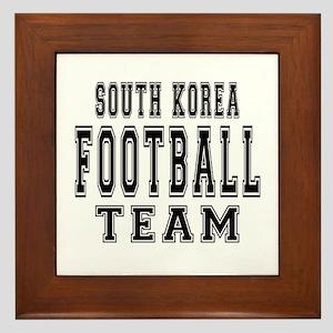South Korea Football Team Framed Tile