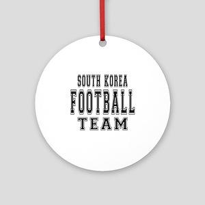 South Korea Football Team Ornament (Round)