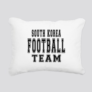 South Korea Football Tea Rectangular Canvas Pillow