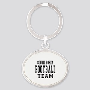 South Korea Football Team Oval Keychain
