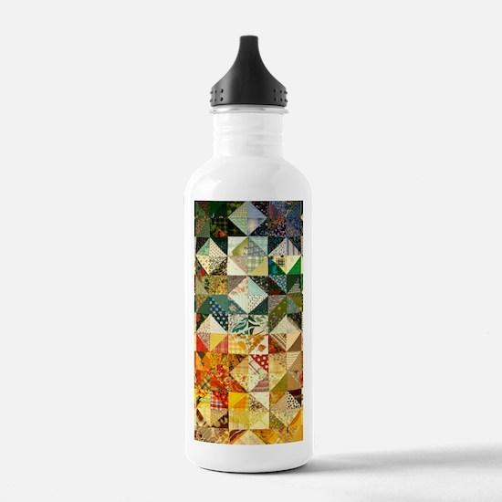 Cute Quilt pattern Water Bottle