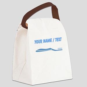Custom Toothbrush Canvas Lunch Bag