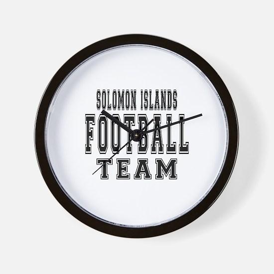 Solomon Islands Football Team Wall Clock