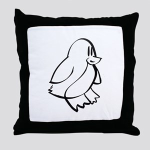 Penguin Profile Throw Pillow