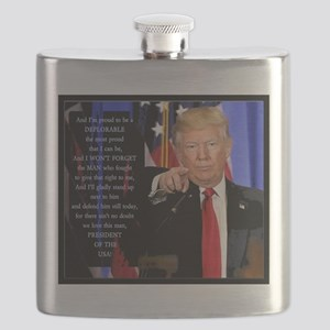 Proud to be a Deplorable Flask