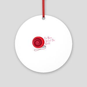 I've Been Around The World Ornament (Round)