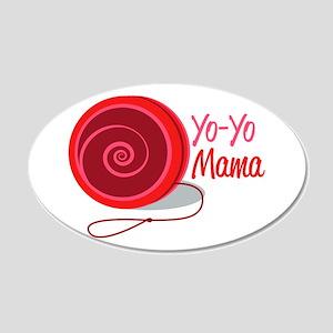 Yo-Yo Mama Wall Decal