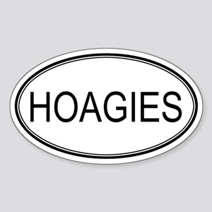 HOAGIES (oval) Oval Sticker