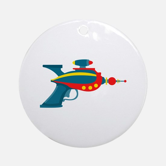 Ray Gun Ornament (Round)