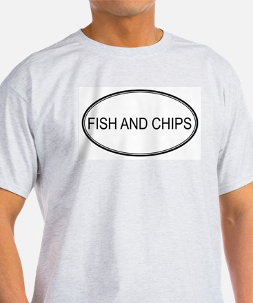 FISH AND CHIPS (oval) T-Shirt