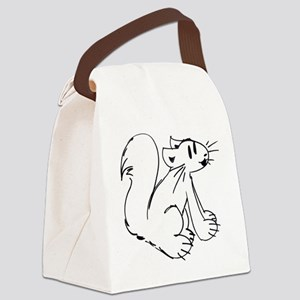 Squirrel Canvas Lunch Bag
