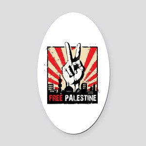 free palestine Oval Car Magnet