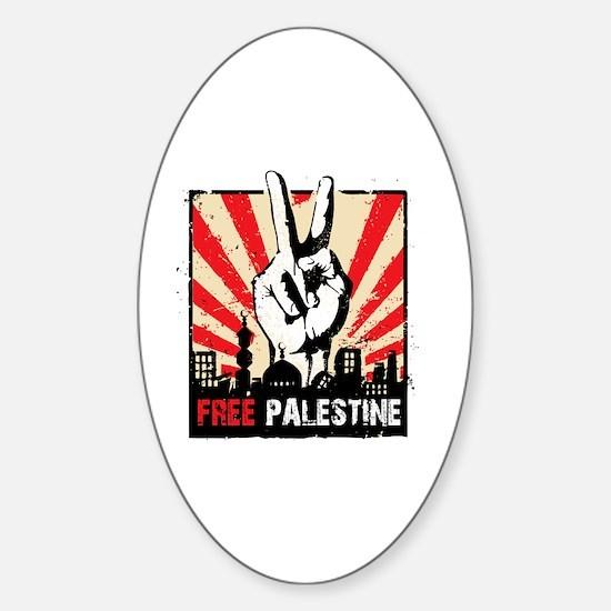 free palestine Sticker (Oval)